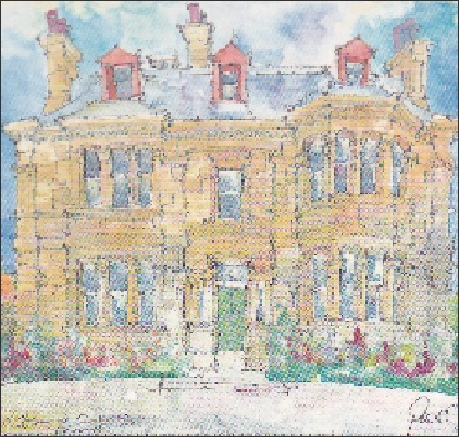 Buccleuch House - original Painting by Peter Alexander Michael